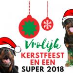 Vrolijke Rottweiler Kerst en een super 2018