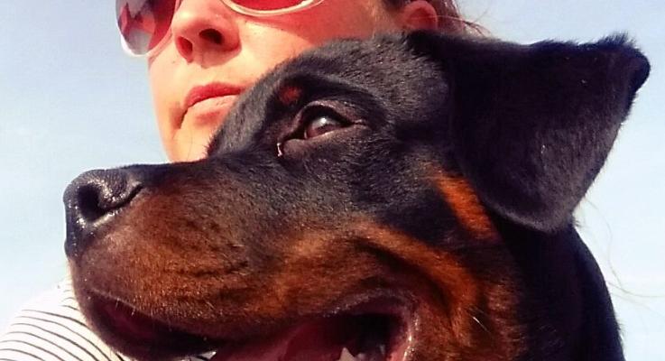 Fotografe en Rottweiler eigenaresse