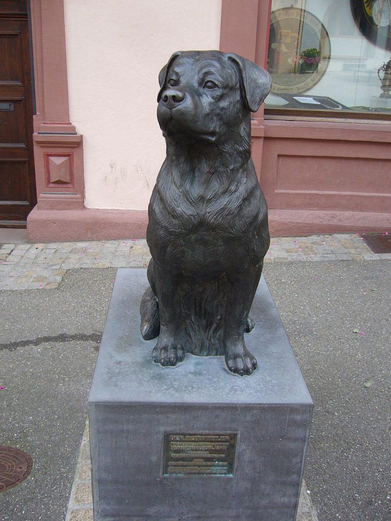 Rottweiler standbeeld